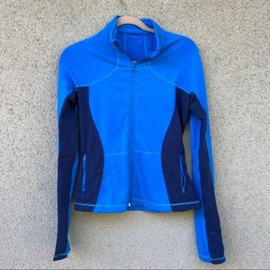 Lululemon zip up jacket blue size 6-8
